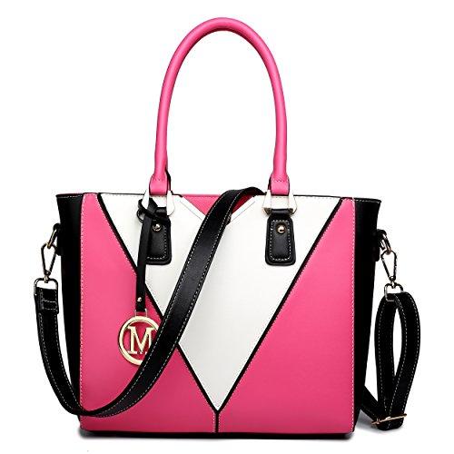 Miss Lulu Pu Ledertasche Damen Schultertasche Handtasche