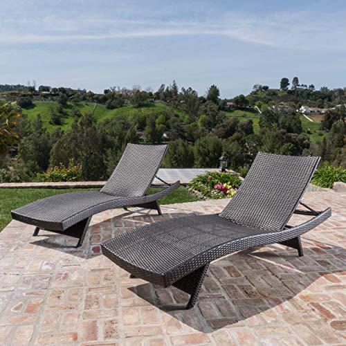 Christopher Knight Home 294919 Lakeport Outdoor Adjustable Chaise Lounge Chair (Set of 2)