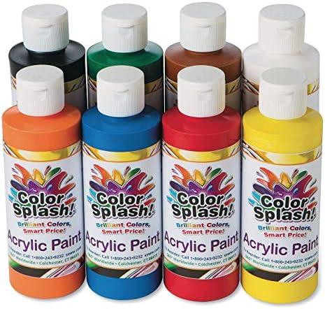 8 oz Color Splash Acrylic Paint Assortment Set of 8 product image