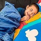 Huggaroo Couverture Lestée pour Enfants | Ultra Douce, Confortable et Facile à Transporter | Aide Idéale Naturelle Au...
