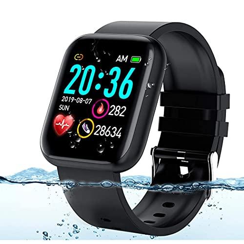 HAOYUNLAI Reloj con Pantalla táctil Completa de 1,3 Pulgadas, Monitor de presión Arterial, Monitor de frecuencia cardíaca, Reloj Deportivo Resistente al Agua, Reloj Inteligente para Hombres y Mujeres