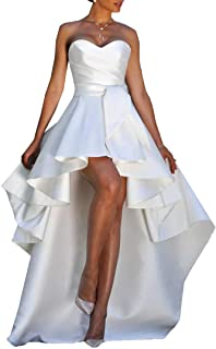 Amazon Com 4x High Low Wedding Dresses Dresses Clothing Shoes Jewelry