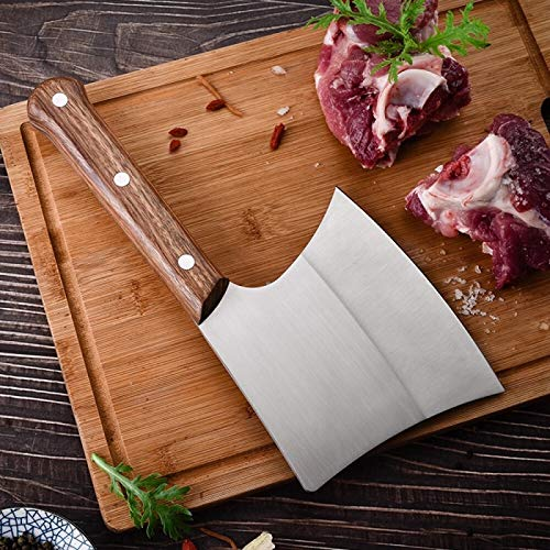 MIXILIN Bone Knife, Bone Cleaver Knife Heavy Duty Meat Cleaver High Carbon Steel Bone Cutting Knife Bone Chopping Knife Axes for Home Kitchen Restaurant