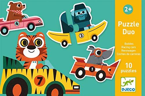 Djeco 38148 Educativos Duo Bólidos Puzzles