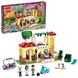 Let your kid to dine out with this restaurant playset, featuring a two floors restaurant, LEGO scooter and a salad cart with two cupcakes Restaurant features a pizza oven, reception, balcony dining area, kitchen, WC, dumpster and outside seating area...