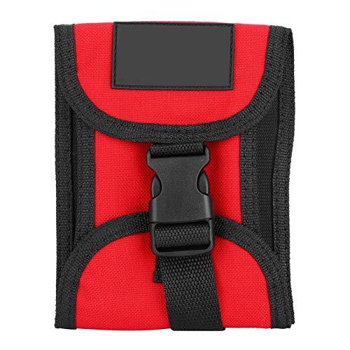 Pwshymi Bolsillo de lastre de Buceo Bolsillo de lastre de Buceo 3KG Bolsillo de lastre de Buceo Impermeable con Hebilla de liberación rápida(Rojo)