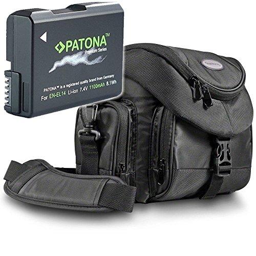 Kit Mantona Premium System Tasche mit Patona Premium Akku für Nikon EN-EL14 EN-EL14a -...