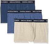Jack & Jones Jacstyle 2 Trunks Bóxer, Azul (Dark Denim Detail:Bleached Denim & Silver Birch), XX-Large (Pack de 3) para Hombre