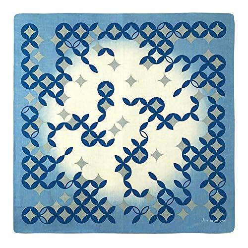 (リネンラ・ヴィ)Linen la vie 和洋折衷メッセージハンカチ「七宝つなぎ」 日本製 麻100% リネン 柄 ユニセックス 繁栄 ギフト対応可