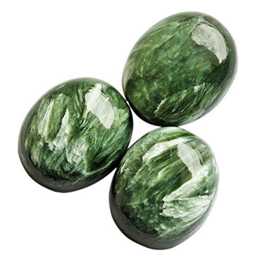 15X20 MM Fabuloso Cabujón Oval Forma Natural Serafinita Cabujón, Proveedor de la gema Pulido, Suave Pulido, Joyería Piedra SN 15X20 MM