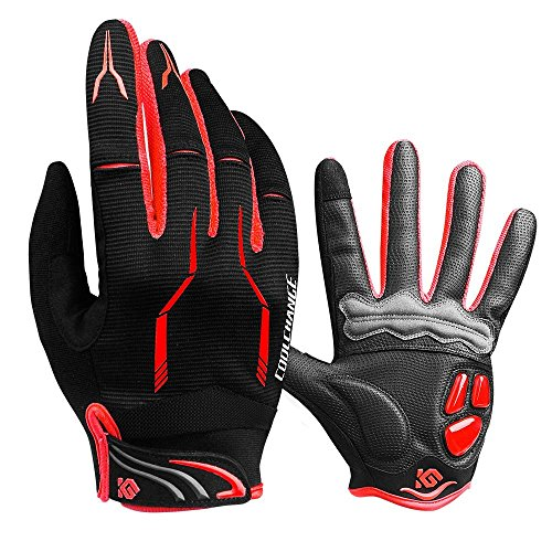 Cool Change Fahrradhandschuhe mit Gel-Polsterung für Mountainbiking, Touchscreen-Thermo-Handschuhe für Damen und Herren