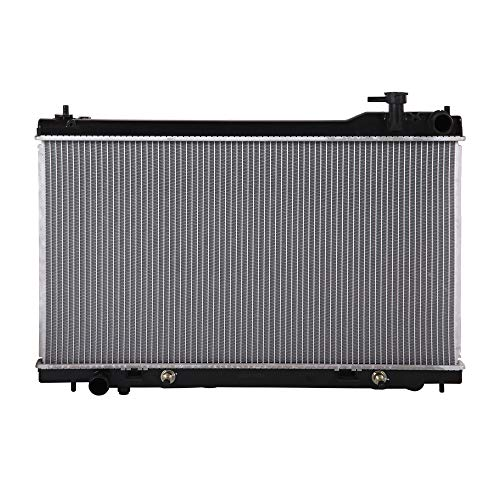 Lynol Cooling System Complete Aluminum Radiator Direct Replacement Compatible With 2003-2007 Infiniti G35 2 Door Coupe V6 3.5L