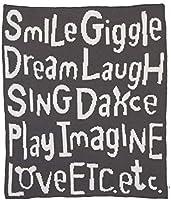 ED Ellen DeGeneres Woodland Friends Super Soft Plush Grey Chenille Baby Blanket, Words of Encouragement, Ivory, Charcoal...