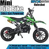 SYX MOTO Kids Mini Dirt Bike Gas Power 2-Stroke 50cc Motorcycle Holeshot Off Road Motorcycle Holeshot Pit Bike, Pull Start, Green from SYX MOTO