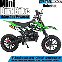 SYX MOTO Kids Mini Dirt Bike Gas Power 2-Stroke 50cc Motorcycle Holeshot Off Road..