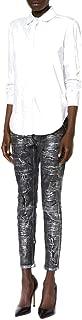 Faith Connexion Coated Repaired Black Metallic Jeans 26