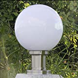 FEE-ZC Pumpink Ball Shape Outdoor Chapiter Light Garden Fence Park Pilar Lighting Paisaje Columna Lámparas (Color: A-25cm)