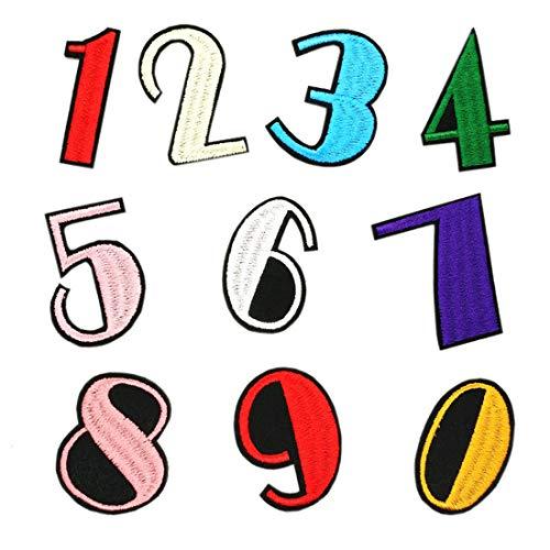 Parches de colores variados para aplicar con plancha para ropa, parches de bordado, parches de tela para niños, decoración de fiestas, 10 unidades