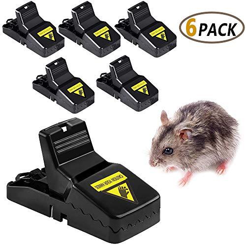 EWAYS Mausefalle Rattenfalle Köder Schlagfalle 6 x Profi Mäusefalle Schlagfalle Hygienisch Einfaches Aufstellen Schnell TöTend MäUse Wiederverwendbar Mäusefalle Schlagfalle In Haus Und Garten