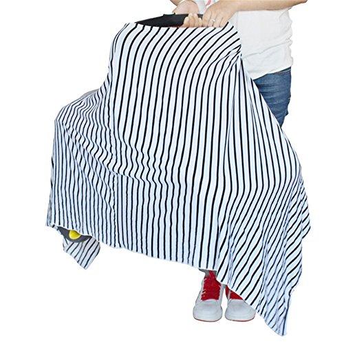 Nouveau type de Motif nouveau-né Triangle Noir et blanc d'allaitement Housse de voiture Housse de siège, unisexe, léger et respirant Canopy, protégeant Infants