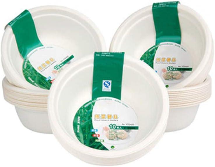 FAEIO Material Biodegradable Fiambreras bento - A Prueba de Agua y Aceite - 50 Piezas Tratamiento de Alta Temperatura ecipientes de Comida Desechables - para reuniones, Necesidades diarias, etc