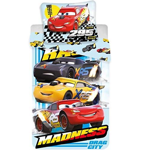 Disney Cars Madness - Copripiumino in cotone, 140 x 200 cm, 60 x 80 cm