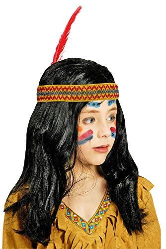 Perücke Indianer Kinder Schwarz