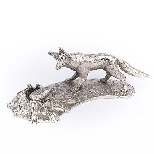 DOG ARTS JP - Statuetta a Forma di Volpe e Riccio, Realizzata nel Regno Unito