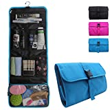 Relavel Travel Hanging Toiletry Bag for Men Women Travel Kit Shaving Bag Waterproof Wash Bag Makeup Organizer for Bathroom Shower (Blue)