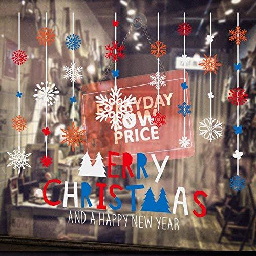 NLRHH 3 Teile/snowfloke Chandelier Wallpaper Fenster fensteraufkleber Glas weihnachtsschmuck wandaufkleber an den türen und Windows DIY (Farbe: A, Größe: 45 * 60 cm) Peng (Color : A)