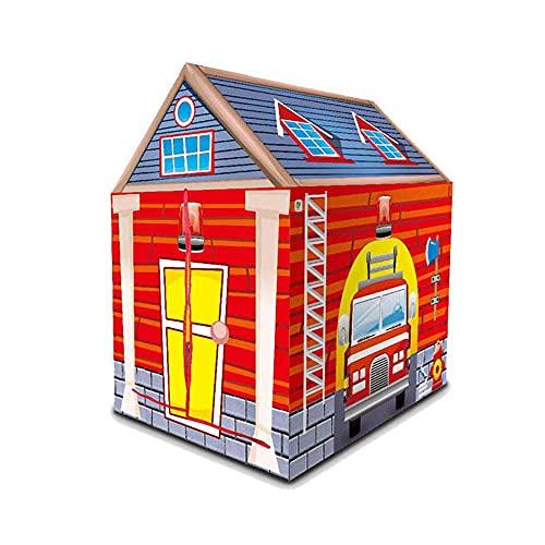 SHWYSHOP Tienda de campaña para niños, casa, camión de Bomberos, Bombero, policías, Juego de simulación, casa de Juegos, choza de Juguete, para Interiores y Exteriores, Regalo, 93 (Presente)