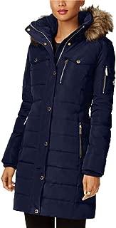 Michael Kors Faux Fur Trim Down Puffer Coat
