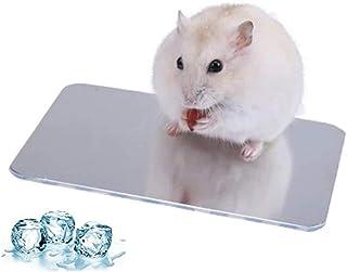 ハムスター 涼感プレート ひんやりプレート アルミクールマット クールパッド 冷却マット 涼しい 夏用 ウサギ/モルモット/ハムスター小動物夏用品 熱中症防止 暑さ対策 ケージアクセサリー (L120×W80mm)