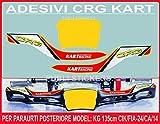 Adhesivos para parachoques CRG Kart Racing Decals Spoiler Rear Model 135 cm CIK/FIA-24/CA/14