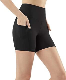 TSLA Women's (Pack of 1 or 2) Active Bike Running Yoga Shorts Side/Hidden Pocket Series