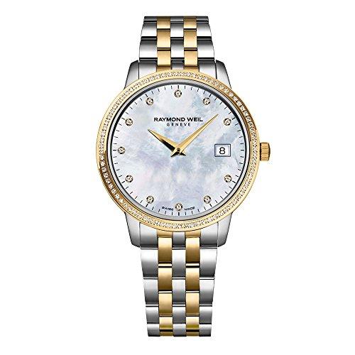 Raymond Weil Toccata Classic - Reloj de Cuarzo con Diamante para Mujer, 34 mm, 5388-SPS-97081