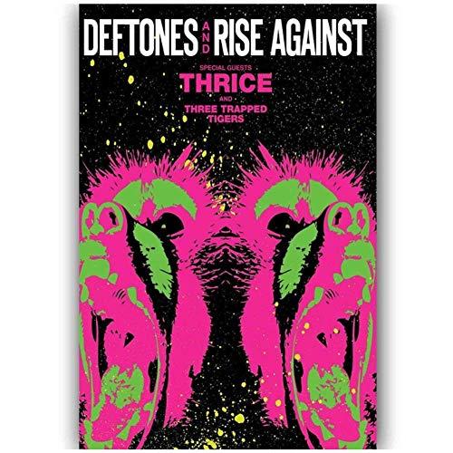 WTHKL Rise Against Thrice Wandkunst Poster Leinwand Malerei Home Decor Bilder Druck auf Leinwand (50x70cm -20x28 Zoll No Frame 1 PCS