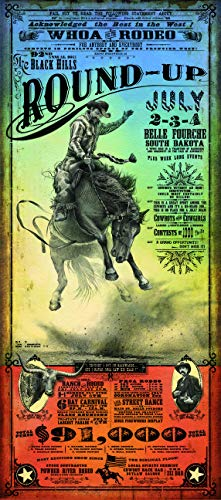 Home of Art Belle Fourche Rodeo Western Poster by Bob Coronato