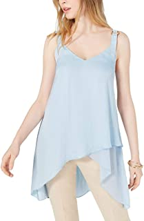 Vince Camuto High-Low Overlapping-Hem Camisole Blue L