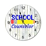 Retro Silent Non-Ticking Wall Clock School Counselor , Counselor, Guidance Counselor, Difference Maker, I'll Be There...