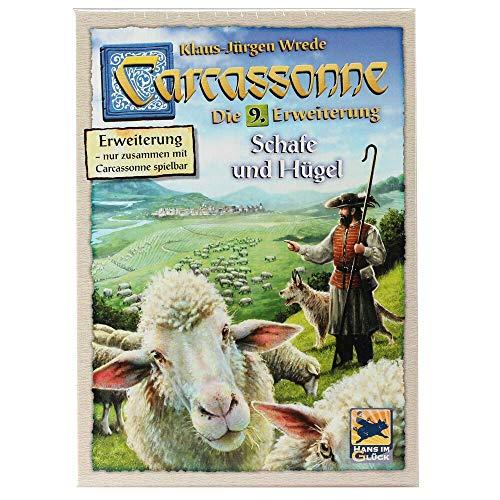 Asmodee Carcassonne - Schafe und Hügel Brettspiel, 9. Erweiterung