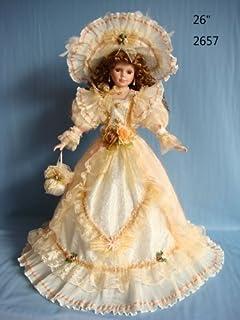 Jmisa 26 inch Umbrella Porcelain Dolls Victoria Style,2657D