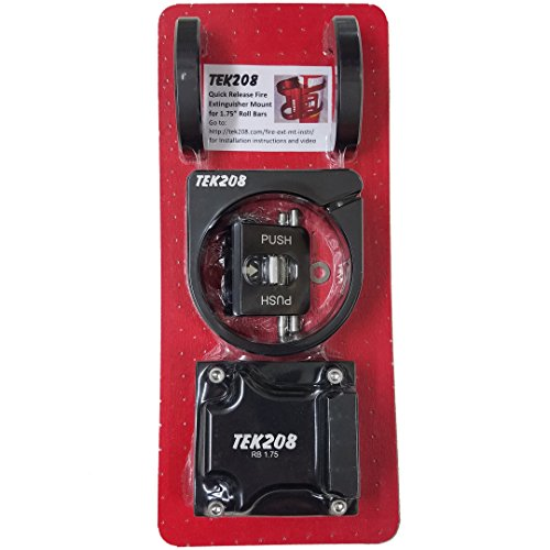 Tek208 Quick Release Fire Extinguisher Roll Bar Mount (Red, 1.75)