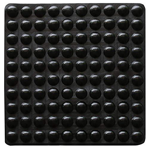 100 topes adhesivos de goma transparente, almohadillas parachoques, amortiguadores de ruido, para puertas, armarios, 9 mm de diámetro x 3 mm, negro