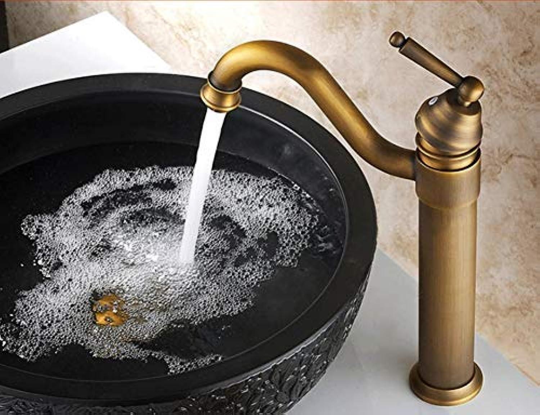 Super schwarz Bull Vintage Style Hoch Antik Messing Wasserhahn Waschbecken Mischbatterien mit Einhand 360 Grad Schwenkauslauf