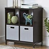 Better Homes Gardens Square 4-Cube Storage Organizer Metal Base (Espresso, 1) (Espresso, 1)