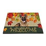 BAGEYOU Felpudo, diseño de perro pastor alemán, bienvenido a...
