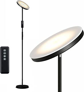 Anten Decki | 20W Led Lampadaire Avec Télécommande | Noir | Lampe Sur Pied 3 Couleurs à Intensité Variable Pour le Bureau ...