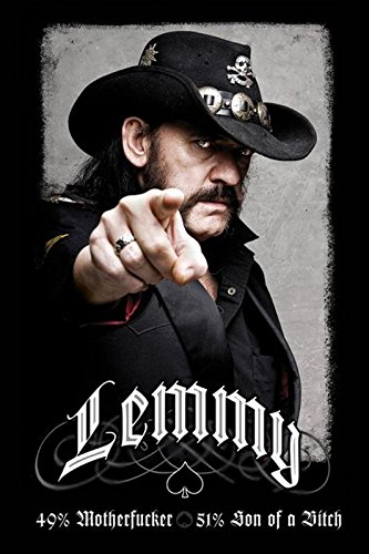 Close Up Motörhead Lemmy Kilmister Poster (61cm x 91,5cm)