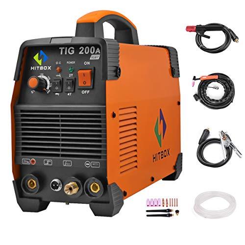 Machine de soudage TIG Portable 200 ampères Haute fréquence 220V TIG MMA 200 avec TIG Bâton IGBT Inverter Soudeuse HITBOX